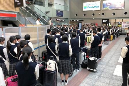 予定通り、松山空港に全員集合完了しました。